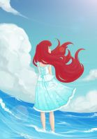Ariel Lost In Sea Blue by Shourei