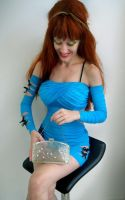 Sky-blue dress and dreams of future, year 2181 by SOFIAMETALQUEEN
