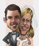 Wedding day caricature by Tomster84