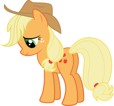 Sad Applejack by TryHardBrony