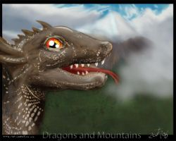 Dragons and Mountains by Larazoma