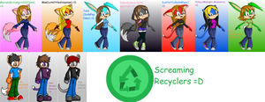 Screaming Recyclers Sonic-fied by Britishgirl2012