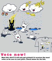 Woot Shirt - Cloudy With A Chance Of Jerks by fablefire