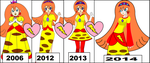 Dresses of Princess Pikasia 2006 to 2014 by MarioBlade64
