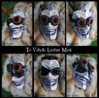 To Valhalla Leather Mask by Epic-Leather