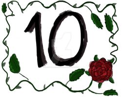 Sign for number 10 by Creative-Rosefinch