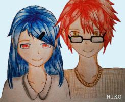 Crimson and Azure by hayameh03