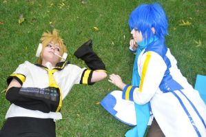 Len and Kaito by foreverxxalways