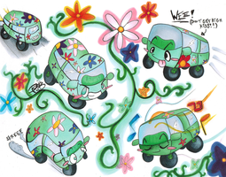 HOORAY FOR HIPPIE VANS by SupahPaulina
