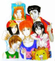 Kurosaki Family, Rukia and Kon by xmusettex