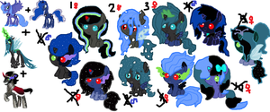 Dark pony(POINTS) Adoptables::CLOSED:: by tiffanykip