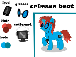 crimson beat Character sheet  by MLP-Scribbles