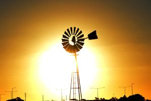 Sunset Windmill by OPTILUX