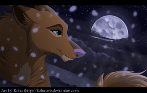 Under the Moon - Commission by kohu-arts