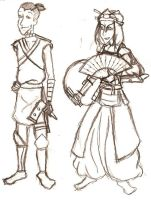 Avatar: Sokka and Suki by There1sNoSp00n