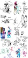 Hotline Miami sketch compilation by basklin