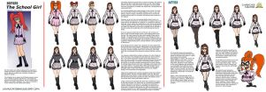 The School Girl character mentor by AngelCrusher