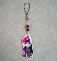 MLP Art Snob Rarity Cellphone Charm by AmyAnnie14