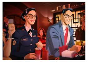 Clark and Diana by Des Taylor by DESPOP