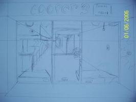 Store front sketch by teddy529