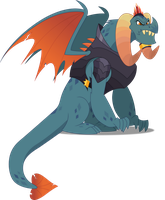 Vector #459 - Dragon Lord Torch by DashieSparkle
