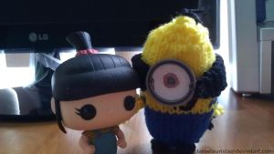Agnus with knitted Minion by danielaurista