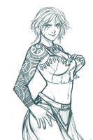 another Astrid sketch by iara-art