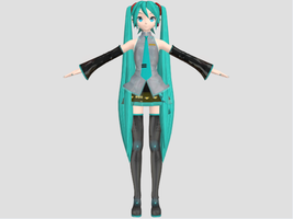 DT Miku 3ds Max Test by Haruhi-chan4ever