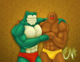 Muscle Diglett Snorlax by ciberman001
