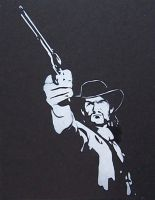 John Marston - Stencil by theraineydaze