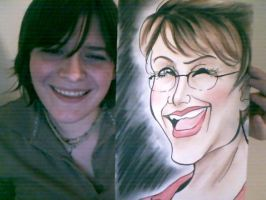 Caricature - Sarah Palin by timmydoomsqueaks