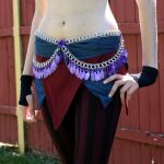 Purple Feather Fringe Belt by Utopia-Armoury