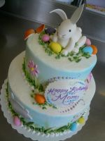 Easter Bunny Cake by keki-girl