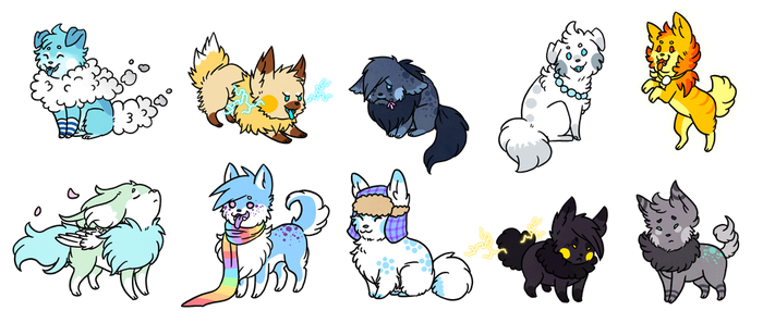 Weather Woofs (Adopts)- CLOSED by Mouseleaf