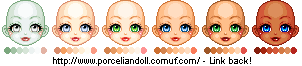 Base Skintone Palettes by porcelian-doll
