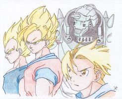 DBZ Brotherhood by Sketchlove