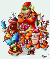 Bowser Family by bot-chan