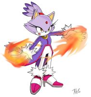 blaze the cat by Uwall