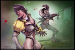 Ivy VS Maxi Soul Calibur by ChekydotStudio