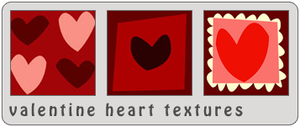 Valentine Heart Textures by bystrawbrry