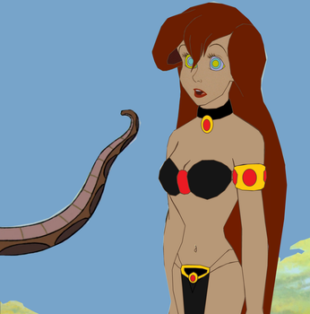 Slave Ariel and Kaa: Come To Me, My Sssssssssslave by hypnotica2002