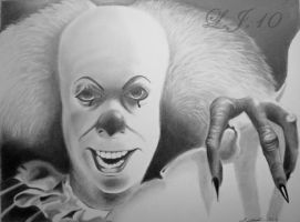 Pennywise From IT Tim Curry by lee100188