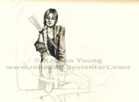 Unfinished Katniss by RohanElf