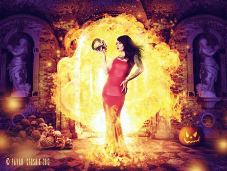 The Fire Witch by Pavan-Art