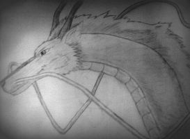 .:Haku-the dragon:. by GraphiteStrike