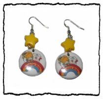 Rainbow brite earrings by False-desire