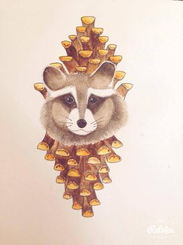 Little racoon by cloudyfeather