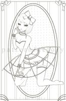 . rosework - coloring page . by patternfactory