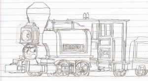 Baron the Narrow Gauge Engine. by Blockwave