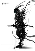 Black and White Tech Zero by benedickbana